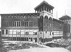 Congress Street Grounds - Congress Street Grounds' pavilion nearing completion, 1890. Only known photo of the ballpark.