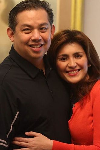 Martin Romualdez - Romualdez (left) with his wife Yedda Marie Kittilstvedt-Romualdez.