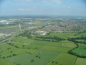 Connah's Quay - Image: Connah's Quay Aerial