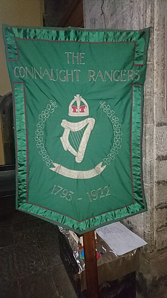 Connaught Rangers - Banner commemorating the regiment in St. Nicholas' Collegiate Church, Galway.