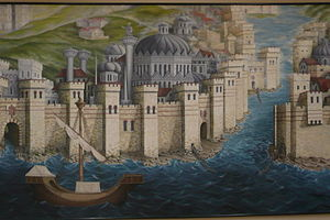 Constantinople mural, Istanbul Archaeological Museums.jpg