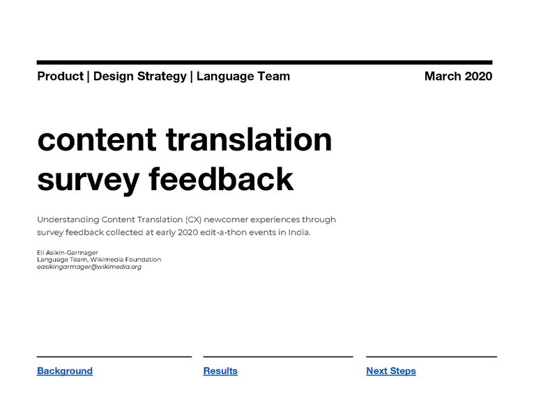File:Content Translation Newcomer Experience Survey.pdf