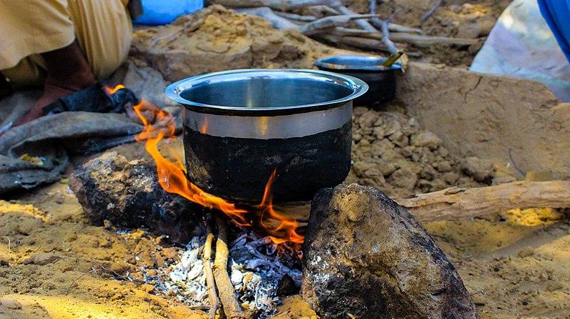 Cooking lunch in Thar Desert