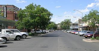 Coonamble, New South Wales - The main street of Coonamble