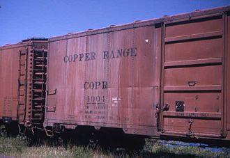 Copper Range Company - Copper Range railroad boxcar, 1973