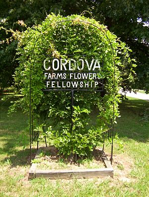 Cordova, Tennessee - Cordova Farms Flowers Fellowship sign