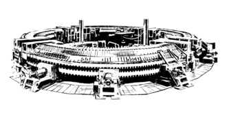 Cosmotron - A drawing of the Cosmotron