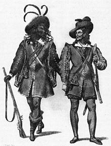 """Эскизы костюмов для Самиэля и Каспара из оперы """"Der Freischütz"""" 1821 года - NGO2p297.jpg"""