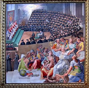 Council of Trent - The Council, depicted by Pasquale Cati (Cati da Iesi)