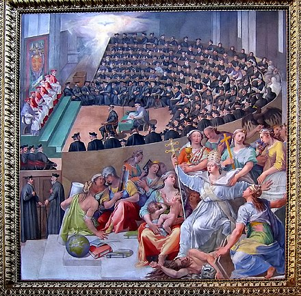 The Council, depicted by Pasquale Cati (Cati da Iesi) Council of Trent by Pasquale Cati.jpg