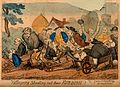 Country folk pushing a lawyer, a physician and a gouty vicar Wellcome V0011044.jpg