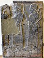 Court officials, one caryiing a weapon, from Sam'al, Turkey. 8th century BCE. Pergamon Museum.jpg