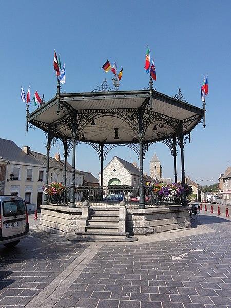 Cousolre (Nord, Fr) kiosque à musique