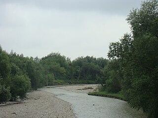 Cracău river in Romania