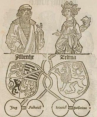 Sidonie of Poděbrady - Sidonie and Albert