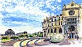 Croquis aquarellé- St Eustache - Paris - France (6923901880).jpg