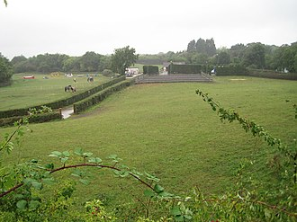 Cross Hands Halt railway station - The site of the station in 2013