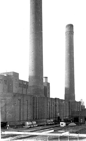 Croydon power stations - Croydon B Power Station, 1973