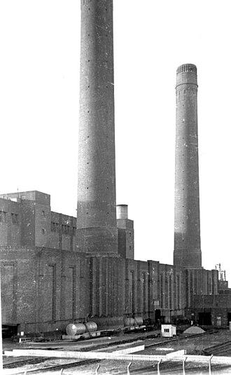 Croydon power stations - Croydon B Power Station, 1973