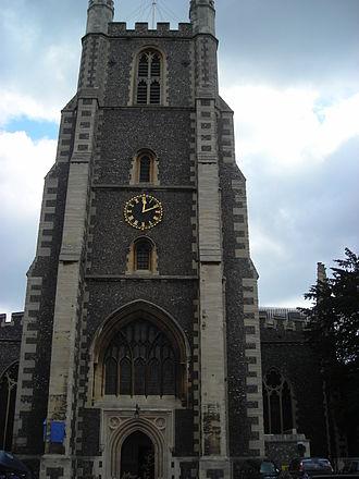 Croydon Minster - The West Tower of Croydon Minster