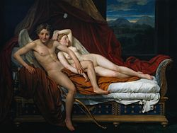 Cupidon et Psyché de Jacques Louis David (1817)