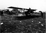 Curtiss biplanes and aviators at an unidentified golf course, Seattle vicinity, 1919 (CURTIS 521).jpeg