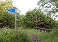 Cycleway sign near Grand Union Canal - geograph.org.uk - 1343656.jpg
