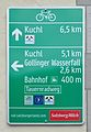 Cycling route sign, Golling.jpg