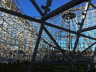 Wicked Cyclone - A view of the original Cyclone from inside its footprint
