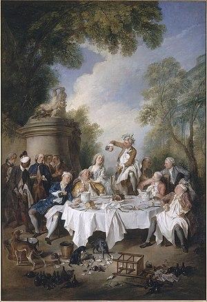 Nicolas Lancret - Image: Déjeuner de jambon Nicolas Lancret musée Condé