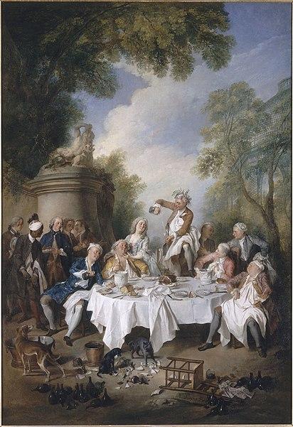 Déjeuner de jambon - Nicolas Lancret - musée Condé