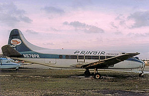 Prinair Flight 277 - A derelict Heron, formerly owned by Prinair, similar to the accident aircraft