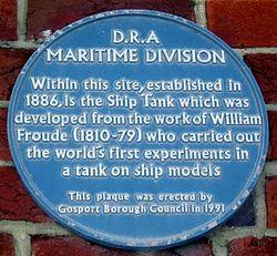 Photo of William Froude blue plaque