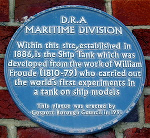 Haslar - Blue Plaque on the Admiralty Experimental Works