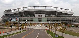 Sports Authority Field at Mile High - The main entrance of the stadium, when it was known as Invesco Field at Mile High.