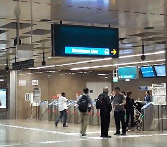 Bukit Panjang MRT/LRT station - Concourse of Bukit Panjang DTL station.