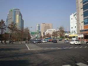 Jung District, Daegu - Image: Daegu thoroughfare