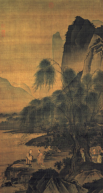 Jiang Ziya - Dai Jin, Dropping a Fishing Line on the Bank of the Wei River, National Palace Museum