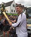 Dan Lobb carrying the Olympic Torch in Oxford.jpg