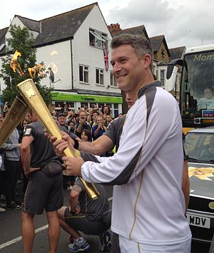 Dan Lobb - Dan Lobb carrying the Olympic Torch in Oxford