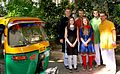 Daniel Oerther posing with students outside hostel during study abroad trip to Gujarat India.jpg