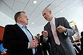 Danmarks statsminister Lars Loekke Rasmussen samtalar med WTO-s direktor Pascal Lamy. Nordiskt globaliseringsforum 2010.jpg