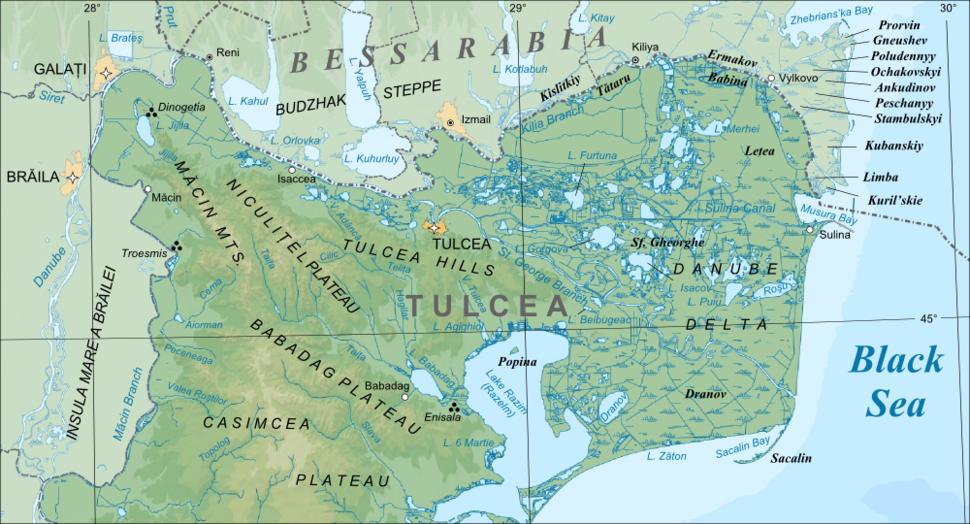Danube delta chart