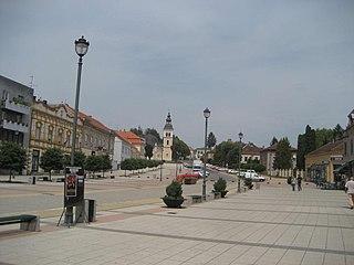 Daruvar Town in Bjelovar-Bilogora, Croatia