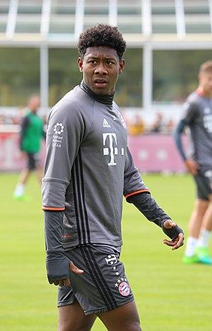 David Alaba - Alaba training for Bayern Munich in 2017