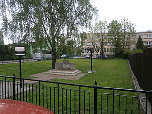 David Ben-Gurion - David Ben-Gurion Square—site of the no longer existing house where he was born, Płońsk, Wspólna Street.