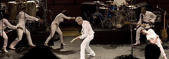 Songs of David Byrne and Brian Eno Tour - The Songs of David Byrne and Brian Eno Tour sought to integrate pop musical performance with modern dance