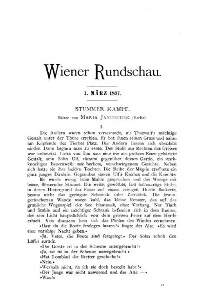 File:De Stummer Kampf (Janitschek).djvu