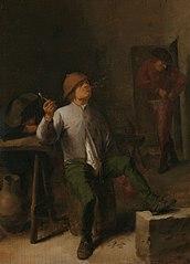 Adriaen Brouwer - De roker Rijksmuseum