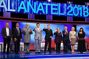 Chilean general election, 2013 - All nine candidates during the Anatel debate.